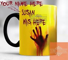 WALKING DEAD PERSONALIZED MAGIC COLOR CHANGING COFFEE MUG TEA CUP YELLOW