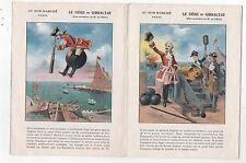 Chromo Au Bon Marché. Livret Le Siège de Gibraltar. Baron de CRAC. 6 pages.