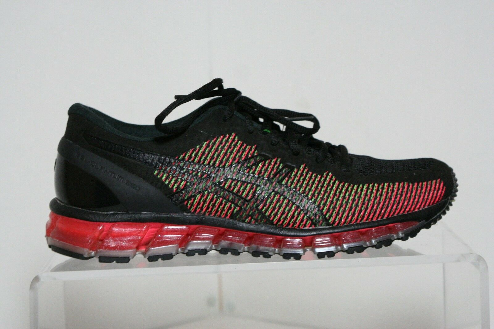 Asics Gel Quantum Quantum Quantum 360 CM Running Women 10 Multi Black Flash Coral Athletic EUC 4d2678