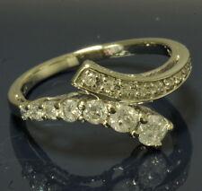 Ladies 10k White Gold 1/2 Cttw Diamond Journey Twist Estate Ring