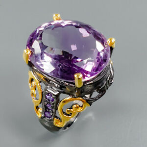 Quality-Gemstone-Natural-Amethyst-925-Sterling-Silver-Ring-Size-8-R83548