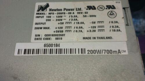 GATEWAY 6500184 200 WATT POWER SUPPLY G6-300 NEWTON POWER NPS-200PB-88 A