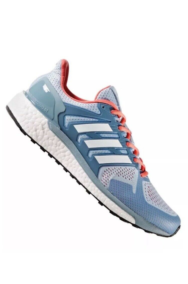 ADIDAS BOOST RUNNING RED WALKING CASUAL SHOES WOMEN 9 BLUE RED RUNNING SUPERNOVA SEQUENCE d3945d