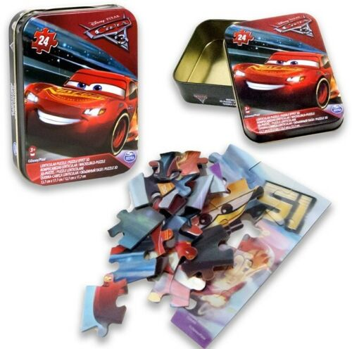 DISNEY CARS 3 puzzles avec 24PCS effets 3D dans boîte en métal-New Boxed