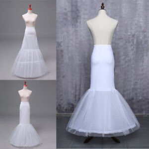 c6989ba34433 Image is loading Hoop-Wedding-Petticoat-Crinoline-Underskirt-Mermaid- Fishtail-Slip-