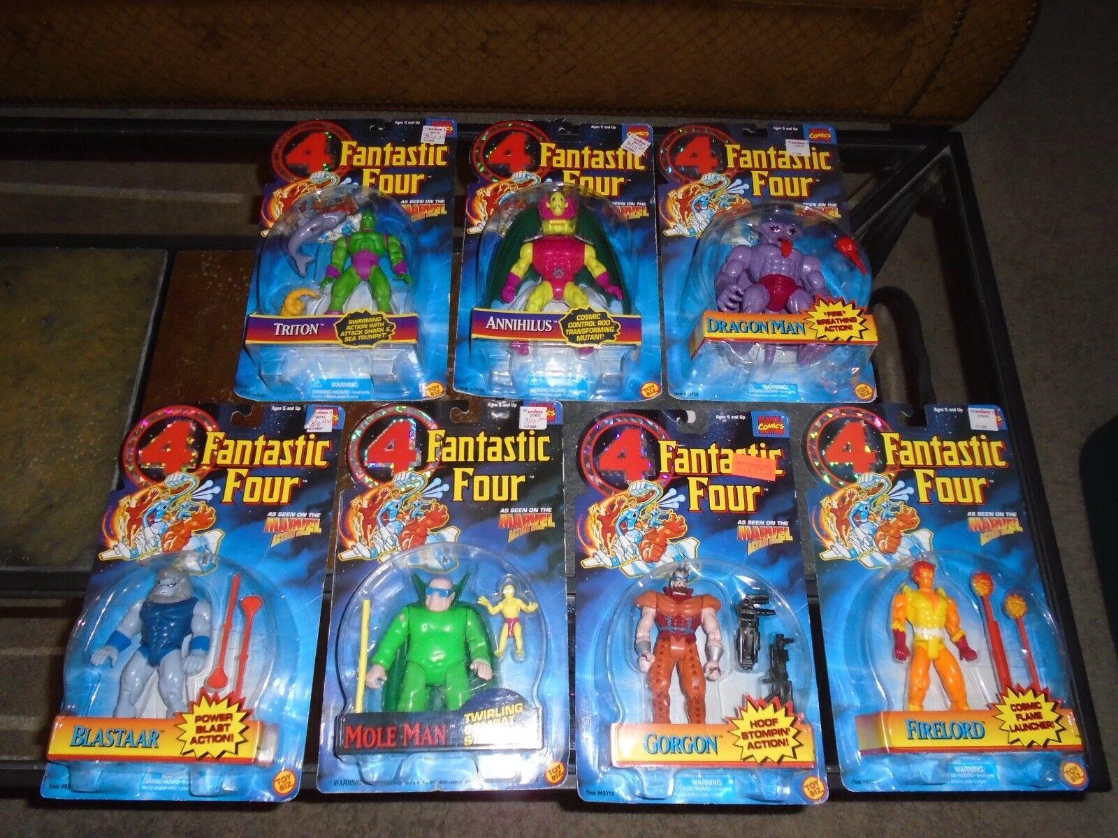 MARVEL COMICS FANTASTIC FOUR FIGURE LOT X7 IN BOX NICE LOT 1995 SEE LIST LOOK