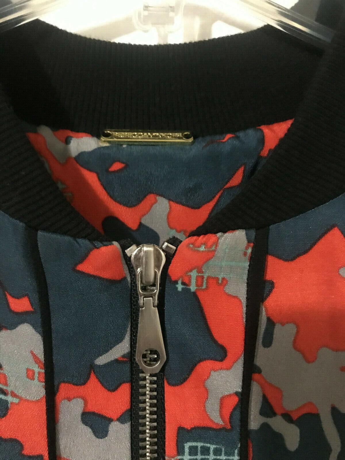 Rebecca Minkoff Red Camo Print Silk Bomber Jacket… - image 3