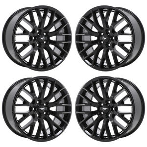 19 Ford Mustang Gt Black Wheels Factory Oem 2016 2017 2018 Set 4