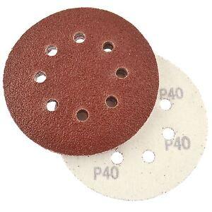 Hook-Loop-Sanding-Abrasive-Discs-Orbital-DA-Palm-Sander-125mm-40-Grit-10-Pk