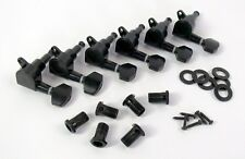 REVERSE Headstock TUNERs NEW 6 in Line BLACK Die Cast FREE USA SHIPPING