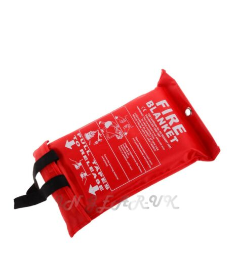Emergency fire blanket first aid camping Caravan home 1M square safety or boat