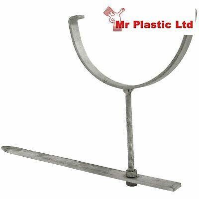 """Rise and Fall Galvanised Gutter Bracket Half Round//Square Guttering 4 1//2/"""" 115mm"""