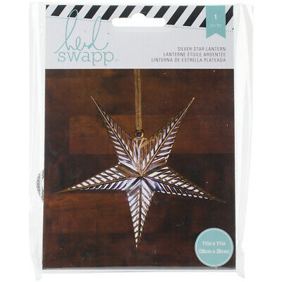 100% Waar American Crafts Heidi Swapp Paper Lanterns Small 5 Point Silver Foil Complete Reeks Artikelen