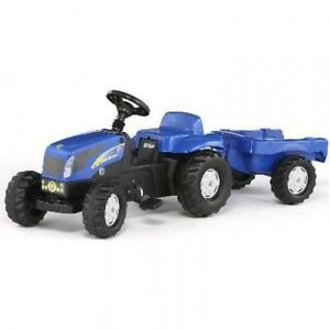 013074 New Holland T 7550 Avec Rimorchio Rolly Jouets