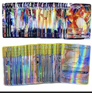 Lot 100 Carte Pokemon Brillantes Sans Double  (30VMAX 50 GX , 20V)