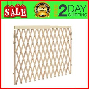 """Dog Gate Retractable Extra Wide Swing Expansion Baby Evenflo 32/"""" tall Wood Best"""
