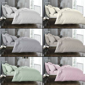 Bianca-100-Cotton-Soft-200-TC-Duvet-Quilt-Cover-Six-Colours