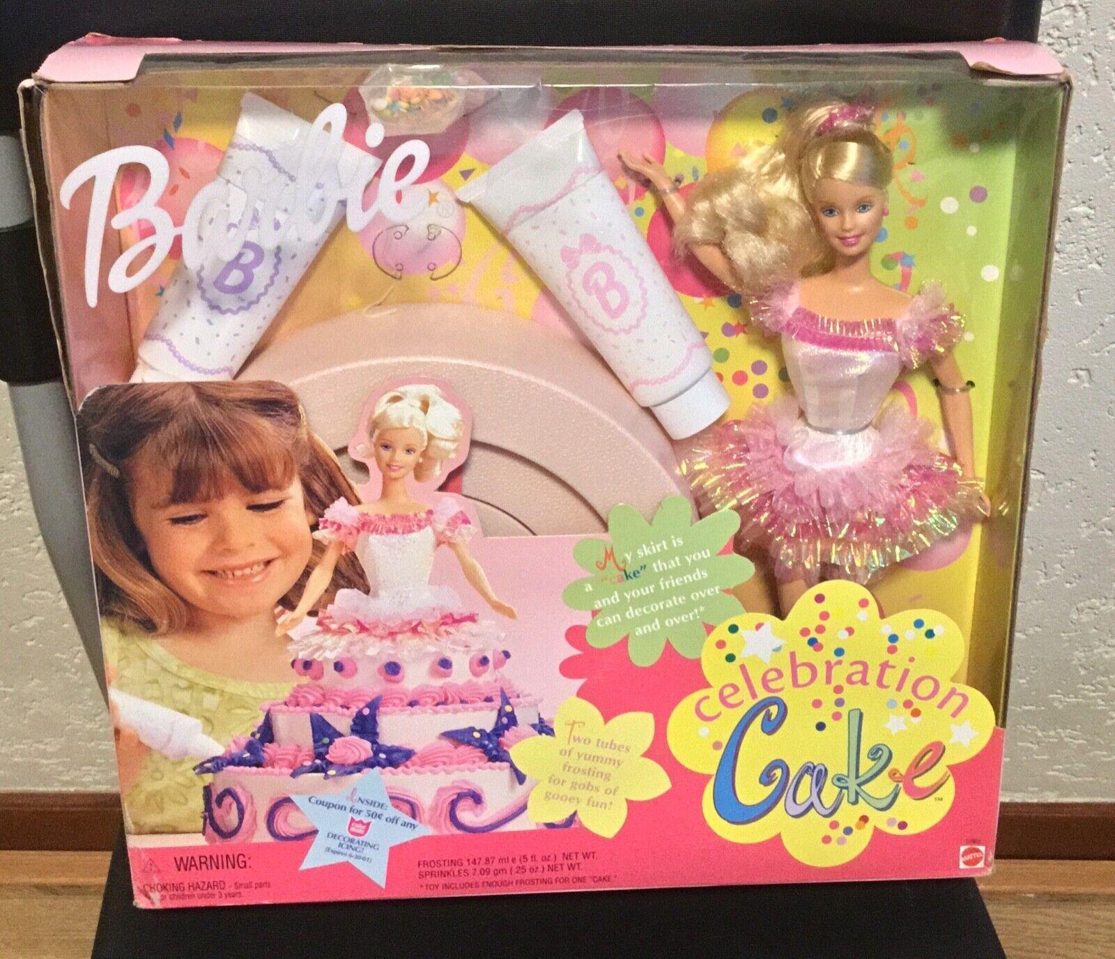 1999 Celebration Cake Barbie doll NRFB Happy Birthday