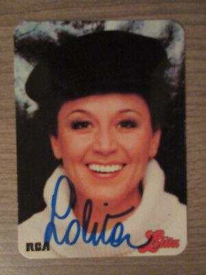 Sammeln & Seltenes Lolita Original Handsignierte Autogrammkarte Autogramme & Autographen Musik Tt4.2 Wir Haben Lob Von Kunden Gewonnen