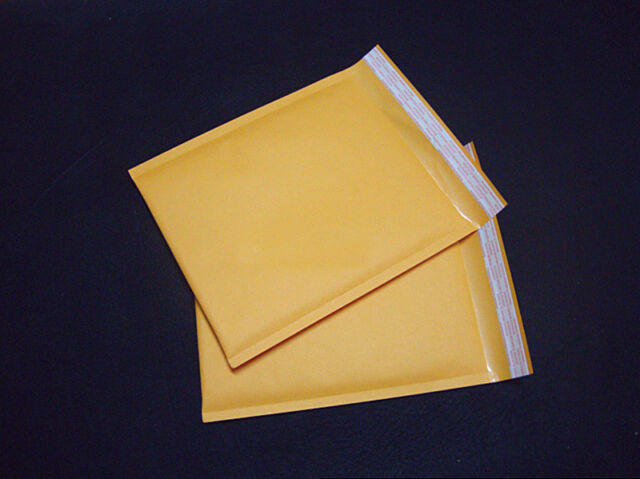 1X 160*220+40mm Kraft Bubble Bag Padded Envelopes Mailers Shipping Yellow SHRI