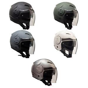 Casco-Jet-Open-Face-CGM-129A-ILLINOIS-Doppia-Visiera-Moto-e-Scooter-Omologato