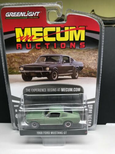 1:64 Greenlight Mecum Auctions Series 5-1968 Ford Mustang GT #37210