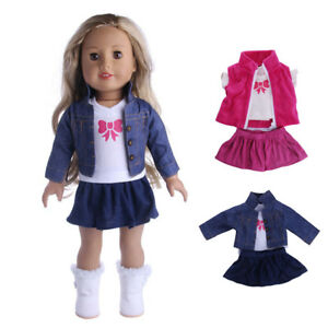 For 18 Cute Girl Our Generation My Life Dolls Clothes Dress Jeans