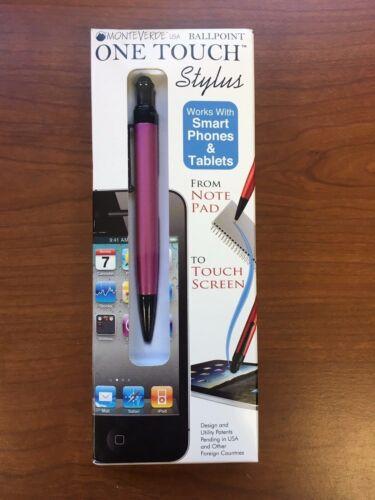Pink MonteVerde One Touch Ballpoint Pen /& Stylus