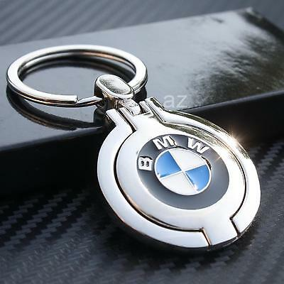 B Metal BMW Key Chain 120i 323I 328 330 M3 M6 X3 X5 X6 Z3 Z4 M5 X1 Chrome Ring