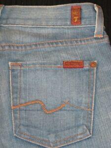 Conveniente decidir Estricto  7 for all Mankind Womens Bootcut jeans Sz 26 w Stretch Distressed Milan  Wash | eBay
