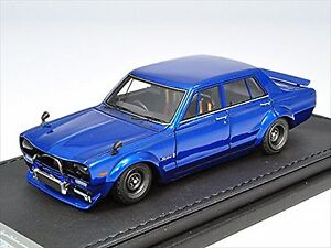 Ignition Model 1/43 NISSAN Skyline 2000 GT-R (PGC10) Semi-Works Bleu IG0647
