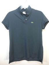 terrific LACOSTE dark grayish blue cap short  sleeve  polo shirt 46 M
