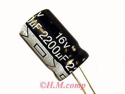 16V 2200uF 105°C electrolytic radial Capacitor X 5pcs S