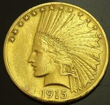 RARE SCARCE ANTIQUE 1915 $10 INDIAN EAGLE GOLD COIN IN AT LEAST EF/AU CONDITION!