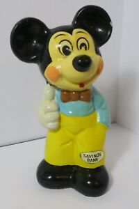 RARE VINTAGE CHALKWARE Mickey Mouse Bust Piggy Bank - $165
