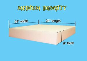 6 X 24 X 24 Foam Sheet Cushion Replacement Upholstery Sold Per