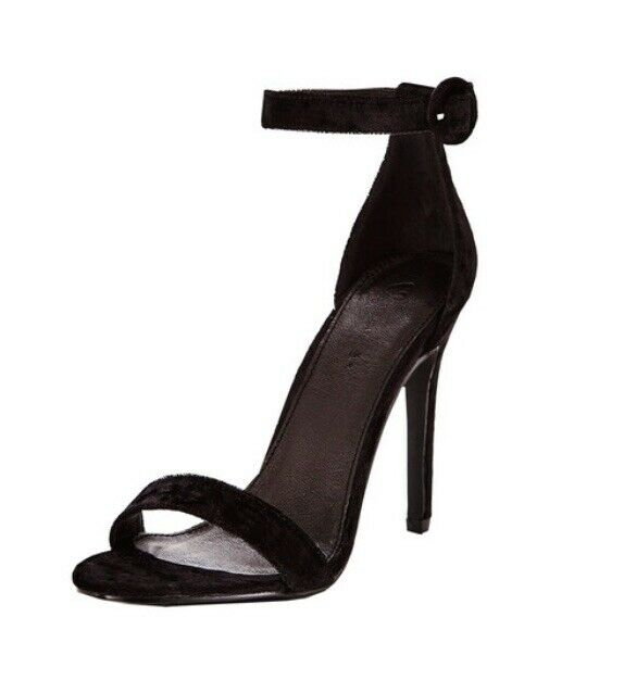 Barely There Size 8 Black Velvet Stiletto Heels RACES COCKTAIL PARTY WEDDING
