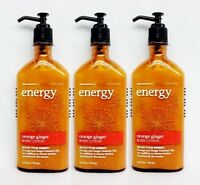 3 Bath & Body Works Aromatherapy Energy - Orange Ginger Body Lotion