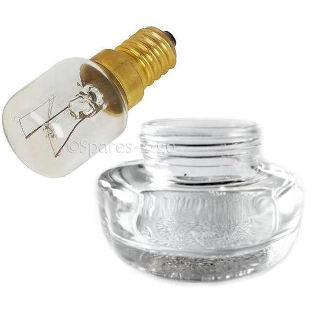 Genuine Original CANNON Oven Cooker Glass Lamp Lens Cover + 15W SES Bulb