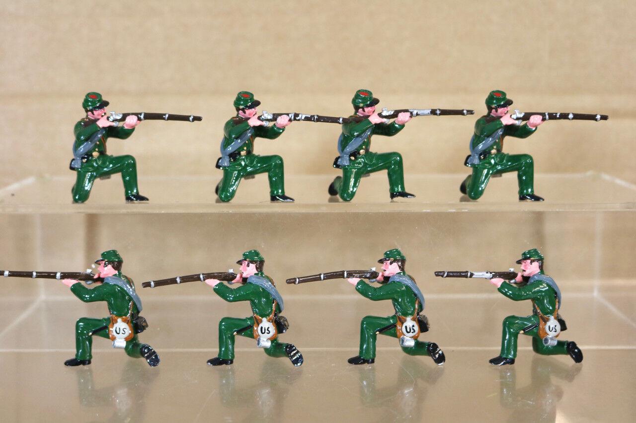 Trofeo Miniatura Guerra Civil Americana 8 Unión Soldados de Rodilla Disparo Pjm