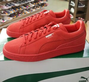 competitive price 139ef cb9d0 Details about PUMA SUEDE CLASSIC MONO REPTILE 363164 05 HIGH RISK RED MEN  US SZ 10.5