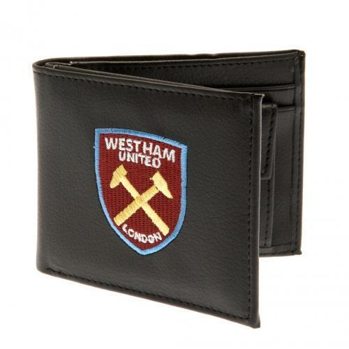 West Ham United Football Club Official Money Wallet with Embroidered Crest