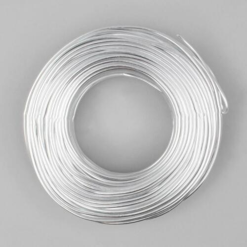 5m x 2mm Silver Coloured Aluminium Wire for Jewellery Making and Crafting Use