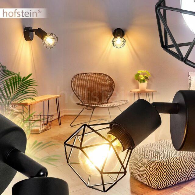 Flur Dielen Strahler Wohn Schlaf Zimmer Leuchten Retro Wand Lampen schwarz-grau