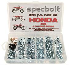 SPECBOLT 120pc HONDA CR BOLT KIT 80 85 125 250 450 500 PLASTIC BODY MOTOR FRAME