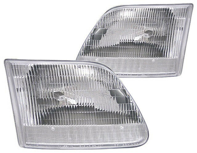New Replacement Headlight Assembly PAIR / FOR FORD F-150 TRUCK & EXPEDITION