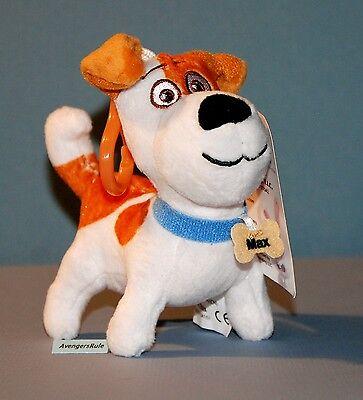 Secret Life of Pets Max the Dog Plush Clip-On