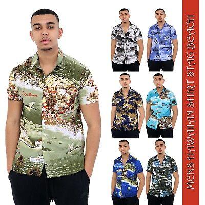 MEN WOMEN HAWAIIAN SHIRT BEACH HAWAII ALOHA PARTY SUMMER HOLIDAY FANCY DRESS TOP