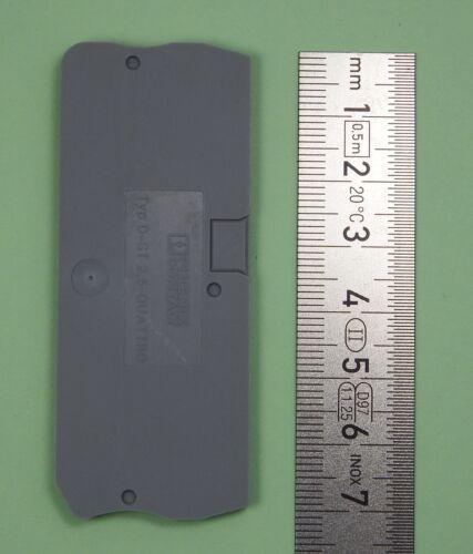 3030514 Quattro 10x Phoenix Contact clôture couvercle gris-D-ST 2,5