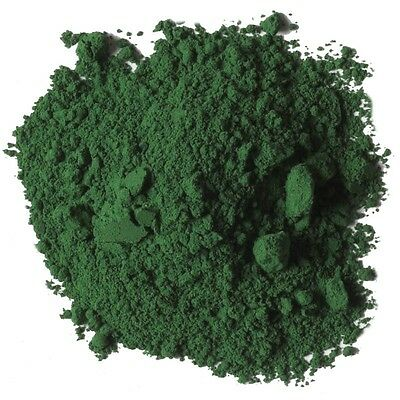 Powder iron oxide Green (Fe2O3) 200 grams Used in / ceramic , pigments, walls ..